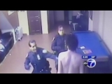 NYPD Cops wake up a sleeping homeless man before BEATING him half to DEATH !
