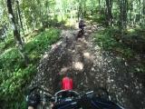 Ganaraska dirt bike wipeout Honda CRF450