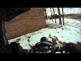 Falling off a DRZ400 into the snow