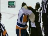 Brent Johnson vs Rick Dipietro Hockey Fight