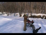 Ice River Riding- Honda 230f/150f in top gear