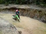 how not to make a water crossing on a dirt bike