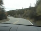 Car Crashes Comming Down Mountain Road