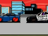 SUPER POLICE CAR ( HIGH-SPEED) CHASE (cartoon Action animation )