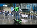 Jason Britton Motorcycle Stunt Show In The Rain – Team No Limits Kawasaki Ninja