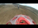 HUGE CRASH! Dirt Bike Rider Panic Revs And Gets Flipped Off!