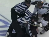 04 27 2009 Joe Thornton vs Ryan Getzlaf