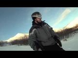 Go Pro Hero HD Snowboarding Hatcher Pass in Alaska
