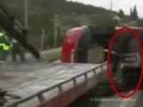 GHOST caught on camera tape after mortal car crash accident – best real video 2012