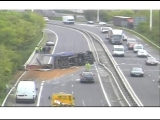 Truck Accident Caught On Police Camera Motorway M621 (M62 Crash Leeds West Yorks UK)