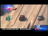 Houston Texas Police Chase.6 April 2012-Person Falls to the Freeway