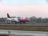 Airbus A320 Wizz Air Ukraine plane take-off Zhulyana's airport (Kiev)