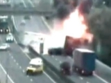 *HORRIBLE* monster truck and cars accident caught on police camera (real crash video)