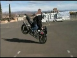 How To Do a Stoppie Motorcycle Stunt : End Stage of Motorcycle Stoppie