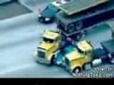 Truckers stop pursuit