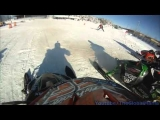 MXR Snowcross GoPro Big Crash (Flys Over Handle Bars)