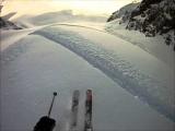 Whistler Heli Skiing Go Pro Helmet Cam 02/22/11