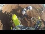 85CC GoPro SUZUKI Risky Crash! Rider Nearly Gets Hit By 2 Other Dirt Bikes!