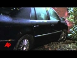 Raw Video: Police Chase Leads to Wall Crash