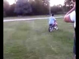 Dirt bike wipeout