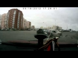 shocking fast car accident in Russia Toyota Corolla