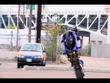 """MOTORCYCLE STUNTS """"CRAZY IN SEATTLE"""" CHAPTER 1 TRICKS CRASH & STUNTING"""