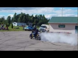 rage in the Gage motorcycle burnouts stunts 50 racing