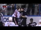 Chris Neil vs Steve Downie Mar 29, 2011