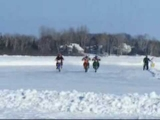 Thunder Bay Motorcycle Ice Racing on Lake Superior