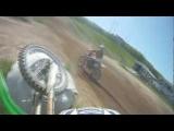 Dirt Bike Crashes Into Sand Barrier