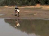 Dirtbike Water Skipping Wipeout
