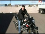 How To Do a Stoppie Motorcycle Stunt : Marking Road for Motorcycle Stoppie
