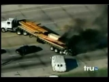 Best Police Chase Ever – Burning Transport Truck, Trucker gets shot