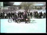 Flat Track Motorcycle Ice Racing Wipe-Outs