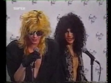 Slash & Duff McKagan Drunks at the American Music Awards 1991