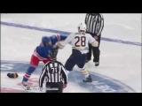 Paul Gaustad vs Brandon Prust Feb 25, 2012