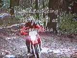 Dirtbike Crash ,Julies ride on Thorpe Hill.wmv
