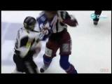 Jtteslagsmlet i Hockeyallsvenskan: Victor Mrtensson vs Viktor Sjdin Hockey fight