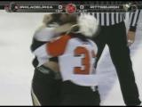 Riley Cote vs Eric Godard Oct 14, 2008