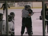 Hockey Fight with Ref