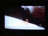 Ski jump freak accident