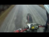 dirt bike wheelie fail 120kph!