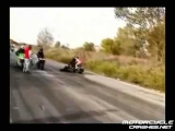 Motorcycle stunts gone wrong!