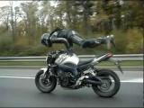 Crazy guy doing insane stunts on bike
