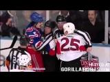 Brian Boyle vs Chris Neil Hockey Fights