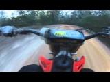 CR250 Dirt Bike Slides Out Of Control – Go Pro Crash
