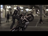 Stunt Motorcyclist in Downtown Chicago – Red Bull Night Tracks