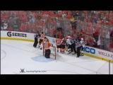 Sidney Crosby vs Claude Giroux & Kris Letang vs Kimmo Timonen Apr 15, 2012