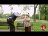 Little Old Lady Kicks Cop in the Balls