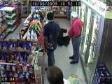 Hilarious! Drunk guy is caught on serveillance camera in store